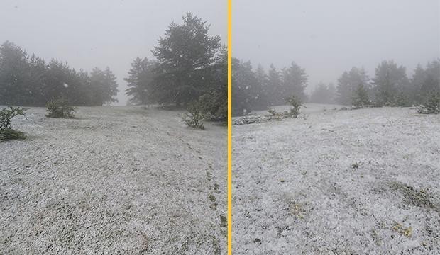 Kastamonu'da Mayıs sonunda kar sürprizi!