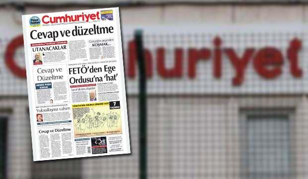 Cumhuriyet gazetesinin yalan ve iftira kampanyası tescillendi: Birinci sayfadan üç tekzip!