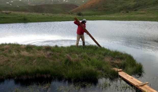 Erzincan'da, yüzen adalara ilgi