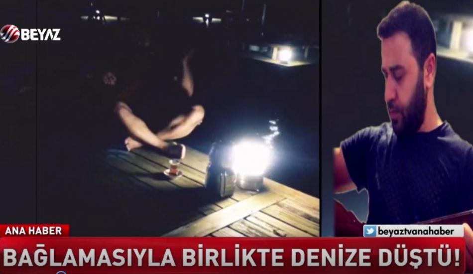 Kendini müziğin ritmine kaptıran Muğlalı sanatçı Şahabettin Aydın, denize düştü