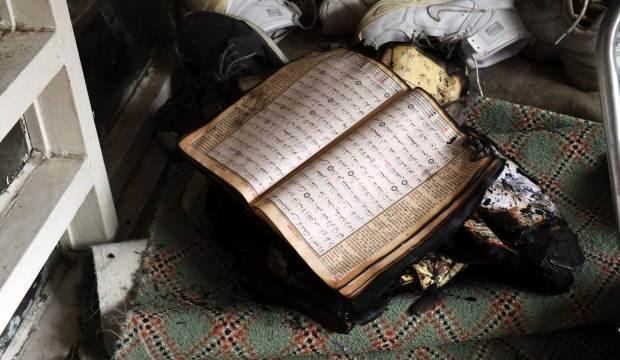 Kur'an-ı Kerim yangında zarar görmedi