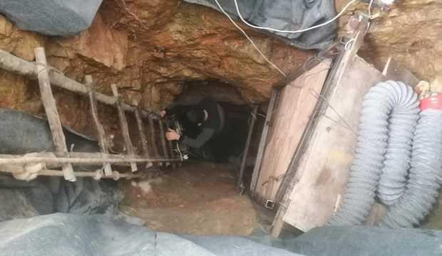 Define için yerin 35 metre altına indiler