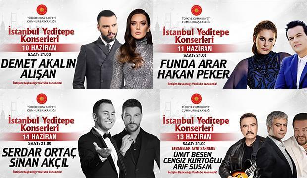 İstanbul Yeditepe Konserleri'nde yıldızlar geçidi