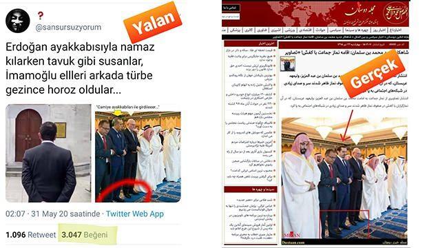 Pes dedirten Erdoğan yalanı! Montaja inanıp binlerce kişi paylaştı