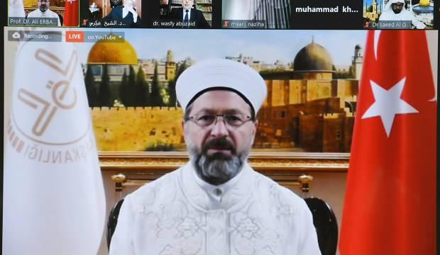 Diyanet İşleri Başkanı Erbaş'tan Kudüs mesajı