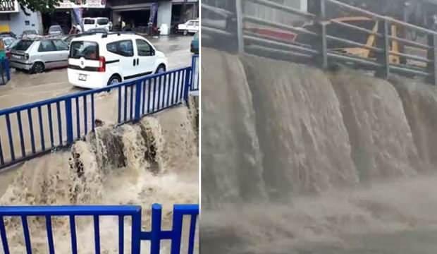 İzmir'de yağmur hayatı felç etti, vatandaş tepki gösterdi