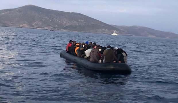 Yunan'ın ölüme terk ettiği 41 düzensiz göçmen kurtarıldı