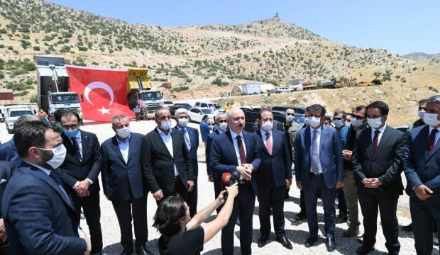 Bakan Karaismailoğlu, Cizre'de incelemelerde bulundu