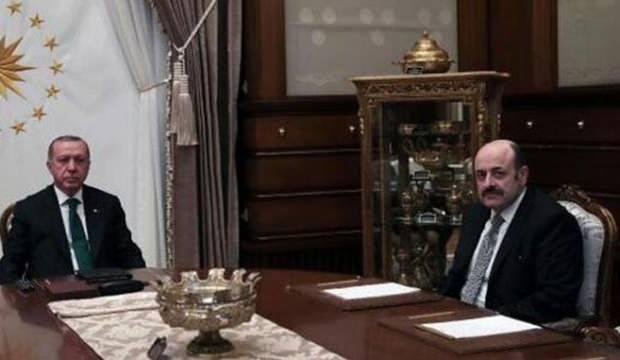 Cumhurbaşkanı Erdoğan, YÖK Başkanı Saraç'ı kabul etti