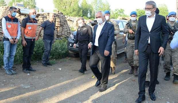 İçişleri Bakan Yardımcısı deprem bölgesinde incelemelerde bulundu
