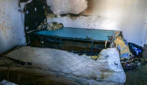 Yorgana düşürdüğü sigaradan çıkan yangında ağır yaralandı