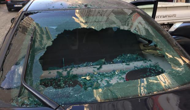 Edirne'de şiddetli yağmur sonrası binalardan araçlara büyük zarar