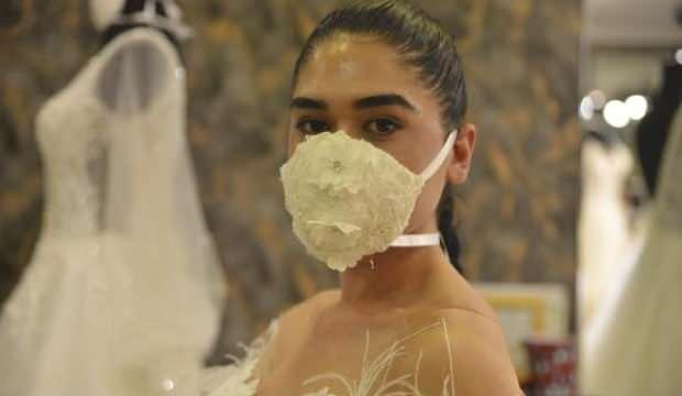 Gelin- damatların yeni aksesuarı 'maske'