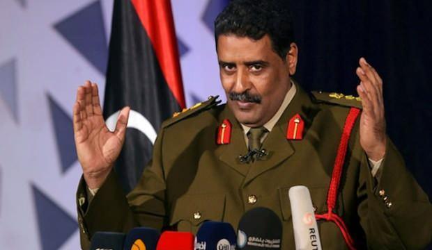 Hafter'in Sözcüsü Mismari, yaptığı açıklamayla alay konusu oldu