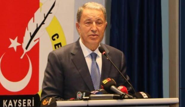 Milli Savunma Bakanı Akar: Türkler ve Kürtler et ve tırnak gibidir