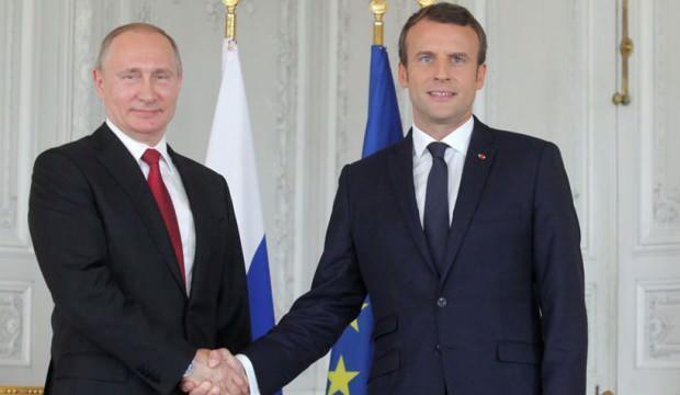 Putin, Fransa Cumhurbaşkanı Macron ile görüştü