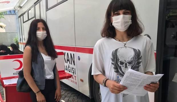 Sınav sonrası kan verdiler