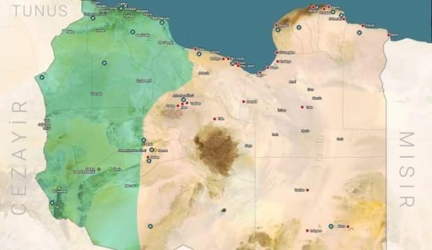 İletişim Başkanlığı, Libya haritasını paylaşıp duyurdu