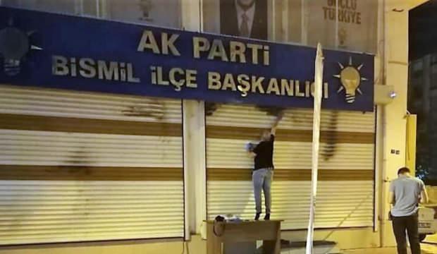 AK Parti binasına molotofkokteylli saldırı