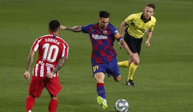 Barcelona'ya liderlik yolunda Atletico'dan ağır darbe