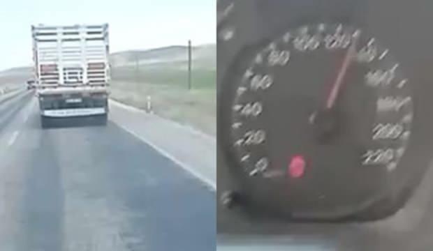 Ambulansa yol vermeyen kamyon sürücüsü hakkında adli ve idari işlem