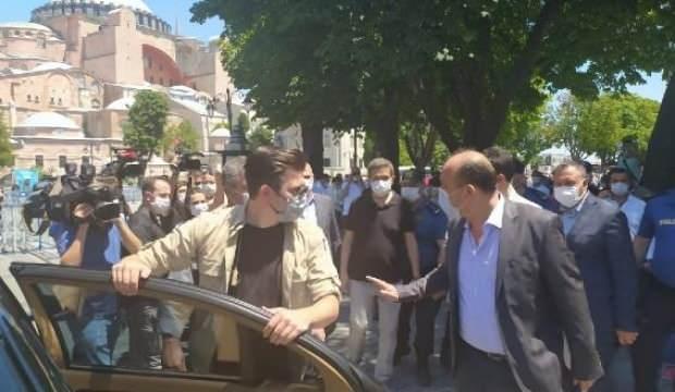 İstanbul Emniyet Müdürü Aktaş, Ayasofya'da incelemelerde bulundu