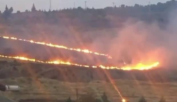 İzmir'de ormanlık alanda korkutan yangın
