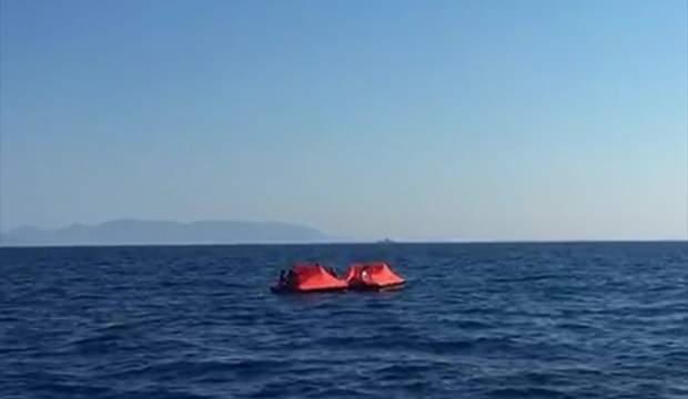 Yunan'ın Türk kara sularına geri ittiği 65 sığınmacı kurtarıldı