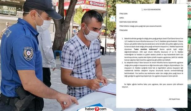 Maske takmama ve sokağa çıkma yasağı cezasına nasıl itiraz edilir?