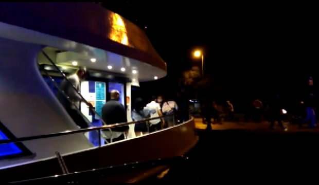Sarıyer'de teknedeki partiye koronavirüs baskını