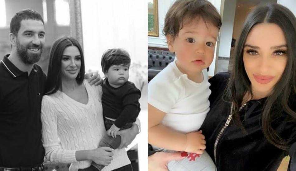Arda Turan ve Aslıhan Doğan'dan aile pozu!