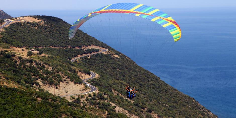 Bayramda adrenalin tutkunlarının adresi 'Uçmakdere'