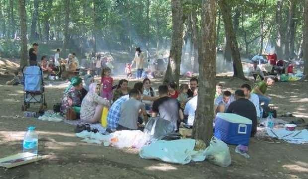 Belgrad Ormanı'nda bayram yoğunluğu