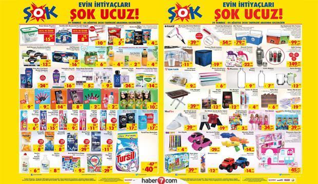 ŞOK 30 Temmuz aktüel kataloğu! Tekstil, oyuncak, züccaciye ve piknik ürünlerinde...