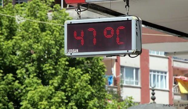 Adana'da hissedilen sıcaklık 47 derece