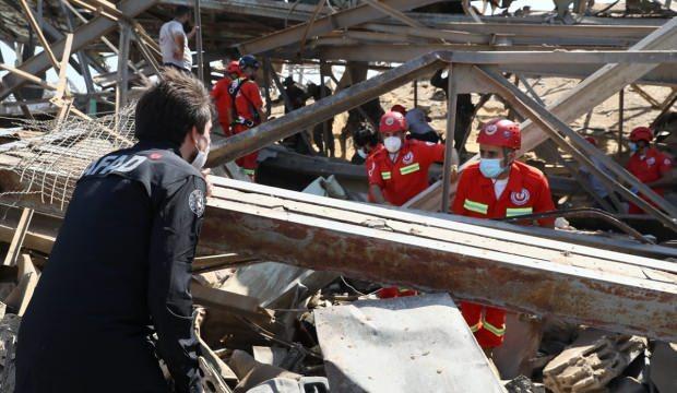 AFAD, Beyrut Limanı'nda çalışmalara başladı
