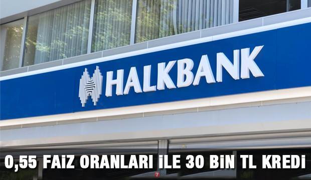 Halkbank  30 bin TL 6 ay ödemesiz ihtiyaç kredisi veriyor! Kredi başvuru ekranı