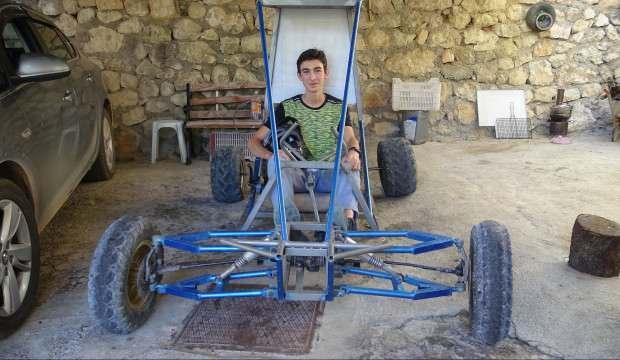 Karaman'da liseli genç 3 ayda 'buggy' araba yaptı