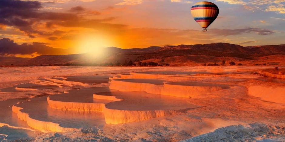 Pamukkale semalarında keyifli balon turu