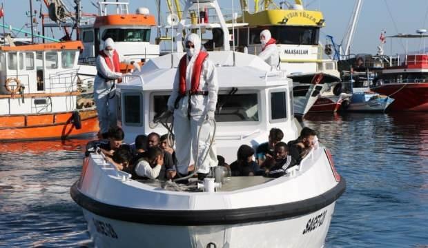 Türk kara sularına itilen 37 sığınmacı kurtarıldı