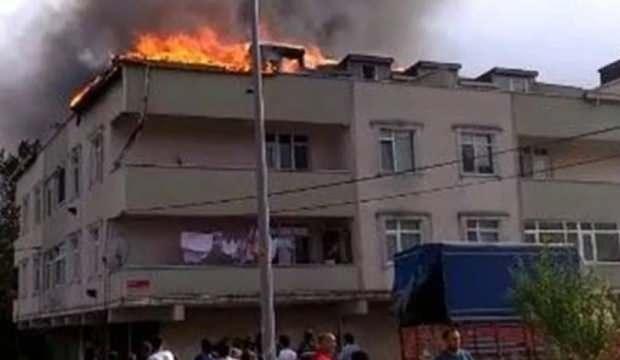 Arnavutköy'de terasta mangal yangın çıkardı!