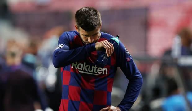 Bayern Münih'ten 8 gol yiyen Barcelona'da Pique isyan etti!