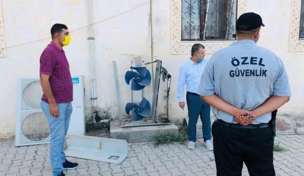 Hırsızlar caminin klima motorunu çalıp hurdaya sattı