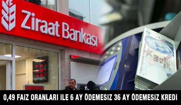 Ziraat Bankası 6 ay ödemesiz 0,49'dan kredi sunuyor! İhtiyaç Kredisi başvuru ekranı