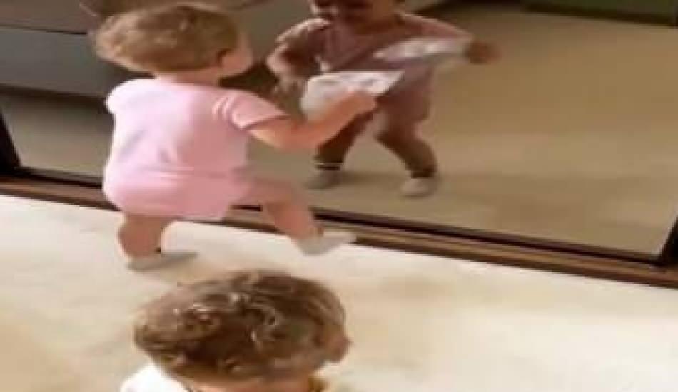 Pelin Akil'in ikizlerinden eğlenceli dans paylaşımı!
