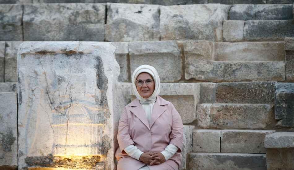 Emine Erdoğan Patara'yı ziyaret etti!