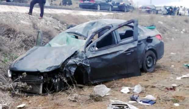 Otomobil şarampole uçtu: 1 ölü 3 yaralı