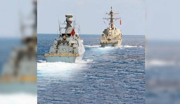 ABD gemileri Doğu Akdeniz'de savaş gemilerimizi izliyor