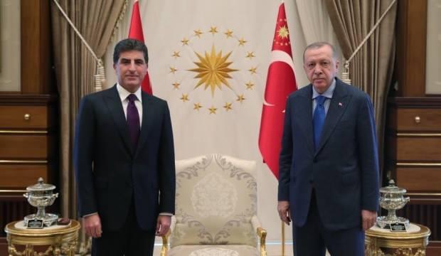 Başkan Erdoğan, Barzani'yi kabul etti!