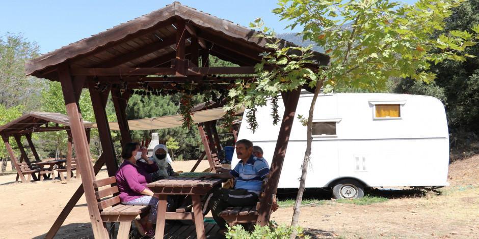 İzole tatil arayan karavancıların yeni adresi: Honaz Dağı Milli Parkı